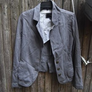 Grey Hurley Casual Blazer Jacket with Buttons S